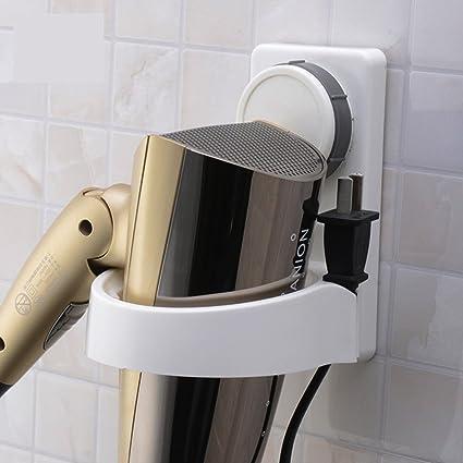 TheBathMart Hair Dryer Mount Holder Rack, Wall Mount Bathroom Blow Dryer  Organizer Storage With