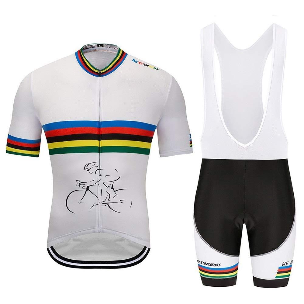 Farbstreifen Weiß Fahrrad Herren und Damen Speed Drop Bekleidung Jersey Anzug Sweatshirt Fahrrad Reitanzug Fahrrad Trikot LPLHJD
