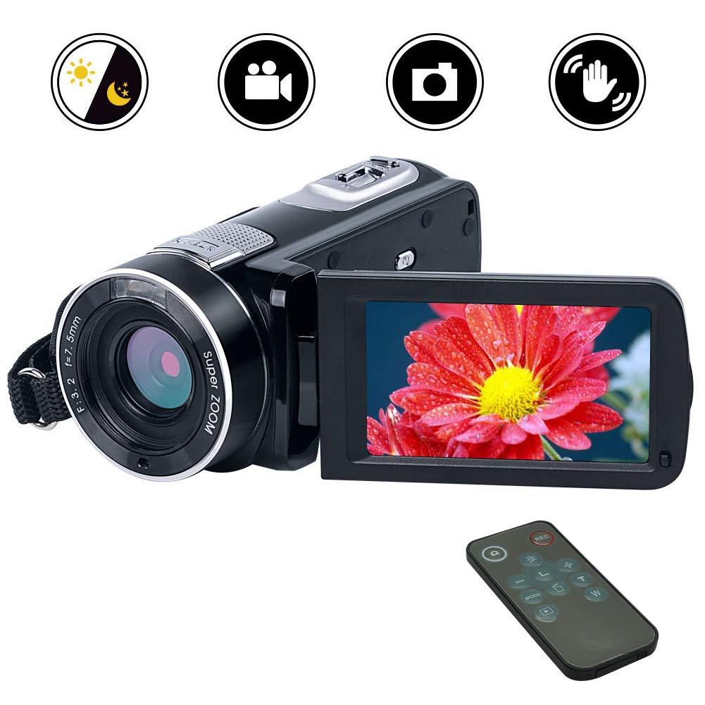 """Cámara de Video Videocámara Cámara Digital Full HD 1080p 24.0MP Zoom Digital 18x Pantalla LCD de Rotación de 270""""con Control Remoto"""