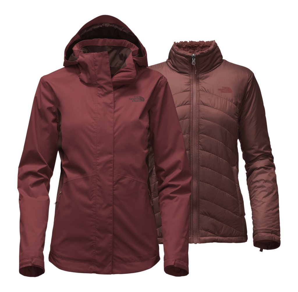 The North Face Women's Mossbud Swirl Triclimate Jacket - Barolo Red/Sequoia Red - L (Past Season)