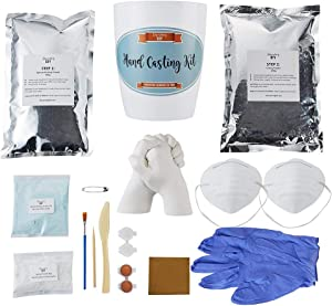 Hand Casting Kit with Masks, Gloves, Paints & Tools Included | Most Complete Hand Molding Kit Available | Casting Kit | Hand Casting | Hand Mold | Discovering DIY