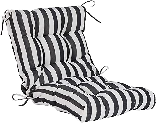 QILLOWAY Outdoor Seat/Back Chair Cushion Tufted Pillow