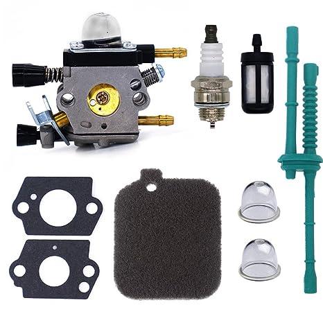 FitBest Carburador con Kit de Servicio de afinación para ...