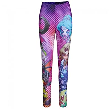 World Of Warcraft Cute But Deadly Women S Junior Stretch Leggings X