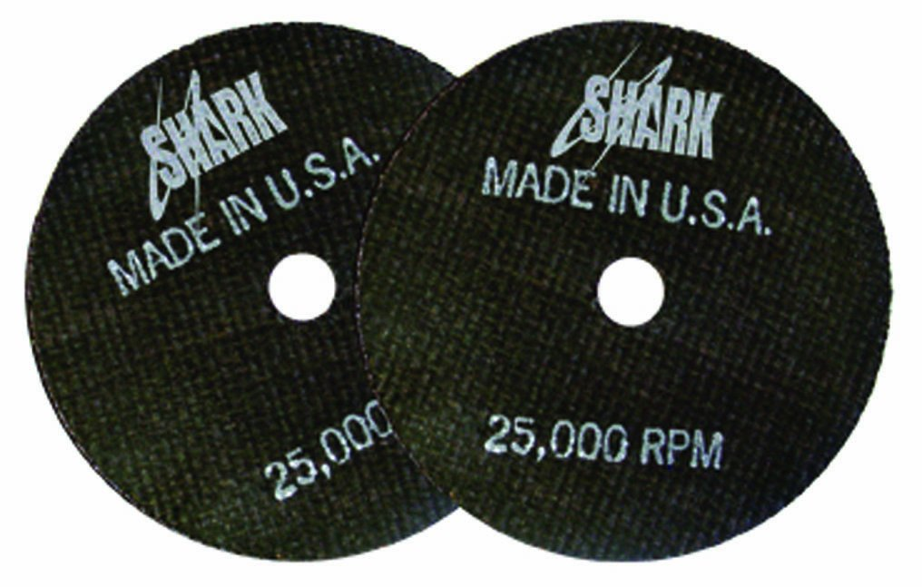 Shark 12704 3-Inch by 1/16-Inch by 3/8-Inch Double Reinforced Cut-off Wheels, 54-Grit, 10-Pack Shark Industries