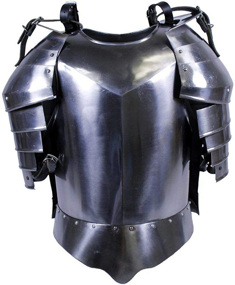 Image of NauticalMart Medieval Times Shoulder Guard Steel Breastplate Warrior Knight Armor