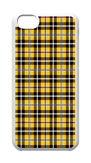 amazon com custom iphone 5c cases yellow plaid hard plastic phone