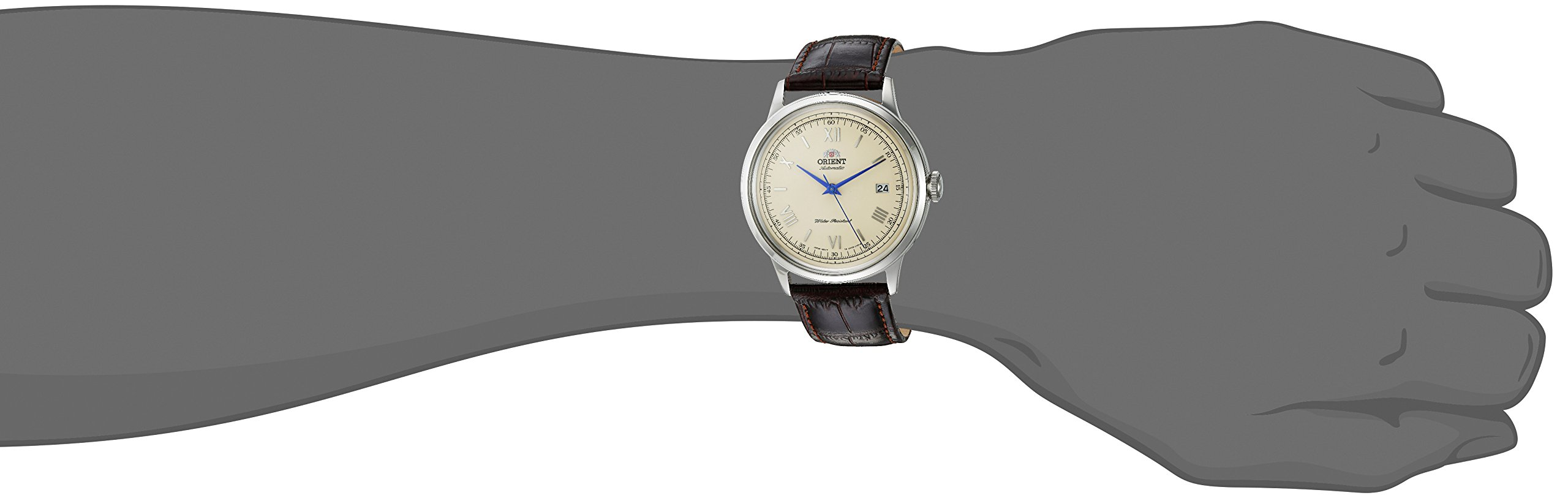 Orient Men's 2nd Gen. Bambino Ver. 2 Stainless Steel Japanese-Automatic Watch with Leather Strap, Brown, 21 (Model: FAC00009N0) by ORIENT (Image #2)
