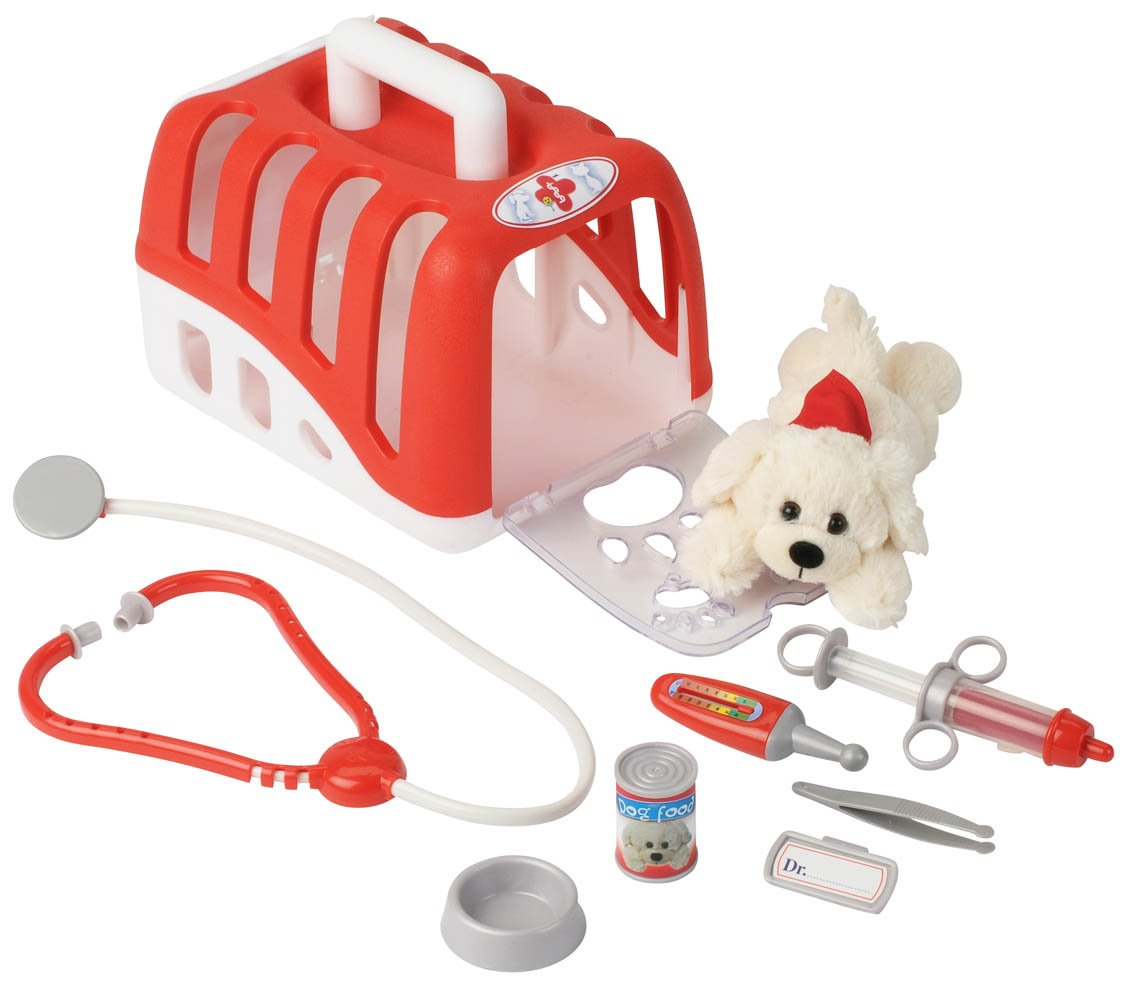 Theo Klein 4831 - Rescue Team Max & Dr. Kim Vet's Transport Box With Cuddly Dog