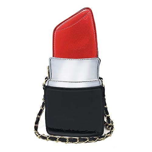 feea07777ef Lipstick Shape Design Crossbody Bag, Ustyle Evening Shopping Street  Shoulder Bag Cell Phone Women Girl Cute Party Purse