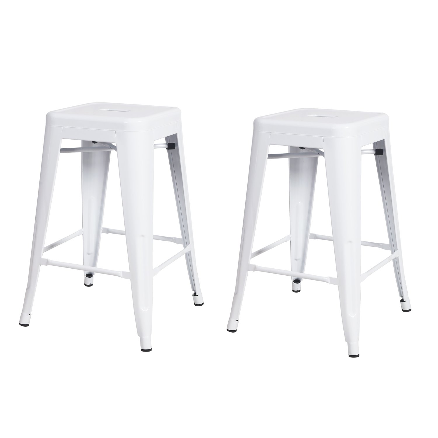 24 Metal Industrial Stools