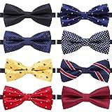 Kyпить AUSKY 8 PACKS Elegant Adjustable Pre-tied bow ties for Men Boys in Different Colors (A) на Amazon.com