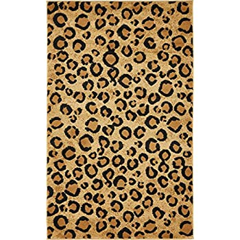 Amazon Com Well Woven Dulcet Leopard Black Ivory Animal