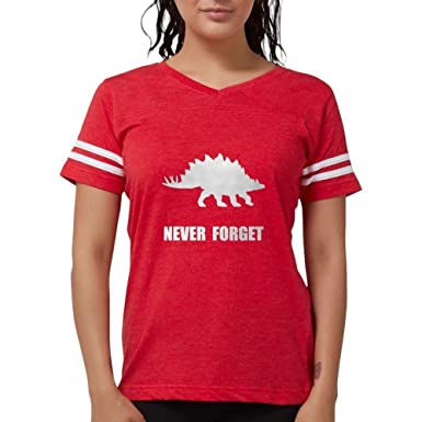 b76a80ca CafePress - Never Forget Dinosaur T-Shirt - Womens Football Shirt Red