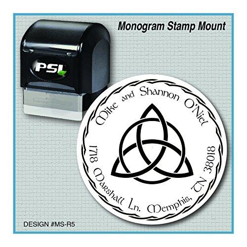 Celtic Kells Knot (Personalized Custom Celtic Trinity Knot Monogram Return Address Stamp,)
