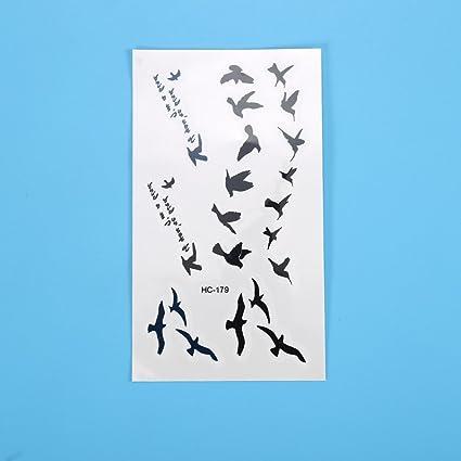 Tatuaje desechable diseño de pájaros de tatuaje impermeable ...