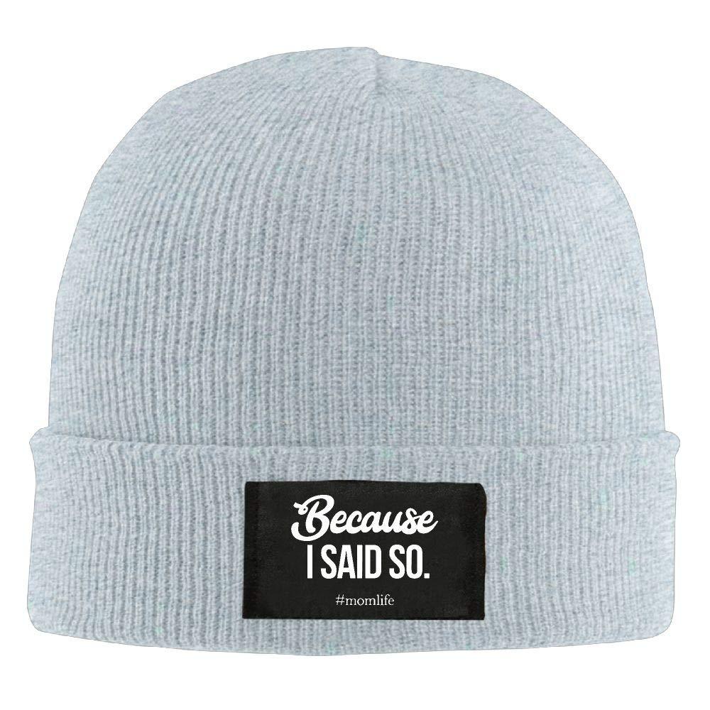 DLOAHJZH-Q Adult Unisex Because I Said So Mom Life Street Style Wool Cap