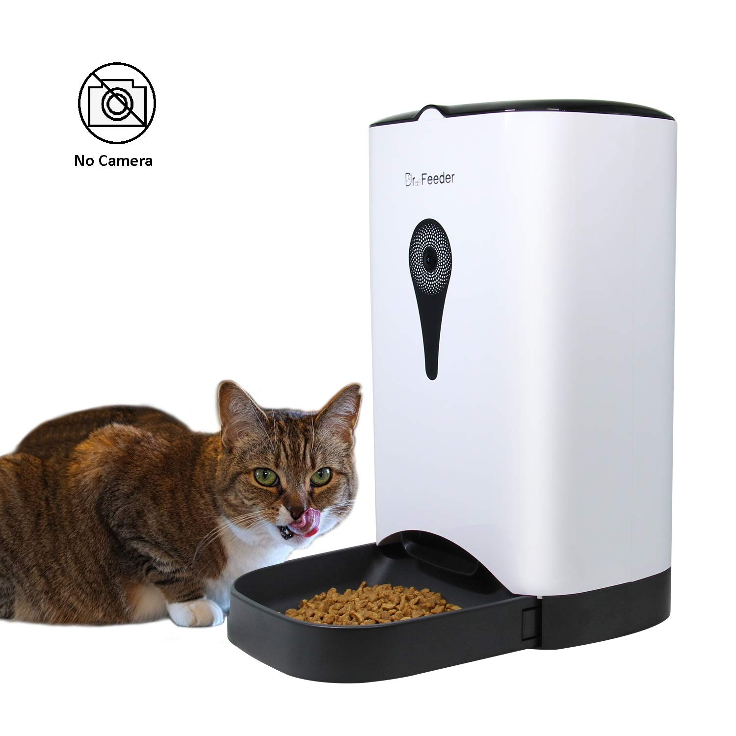 4.5L Automatic Cat Feeder No Camera, Smart Dog Food Dispenser Without App, White