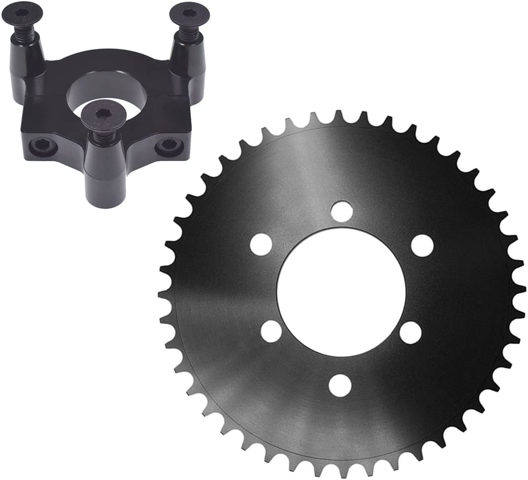 sthus CNC 44T Sprocket With 1.5 Adapter Fits 60cc 66cc 80cc Motorized Bicycle Red