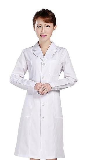 Biwinky Uniforme de Enfermera Blanco Traje Batas de Laboratorio Para Halloween Mujer Asia XL Busto 96cm: Amazon.es: Juguetes y juegos