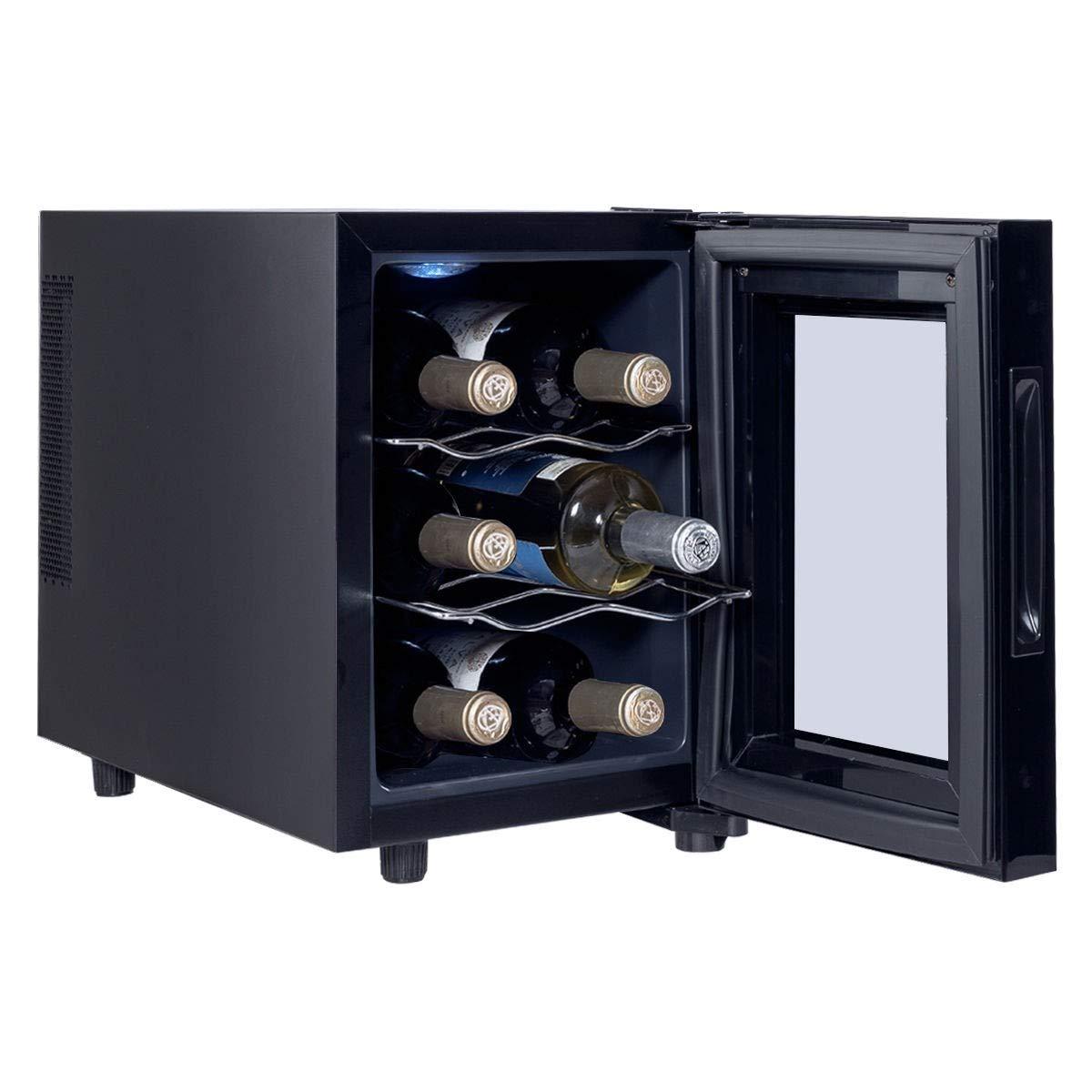 6 Bottle Freestanding Thermoelectric Wine Cooler Freestanding New Perfect Beautiful Classic Elegant Useful CHOOSEandBUY