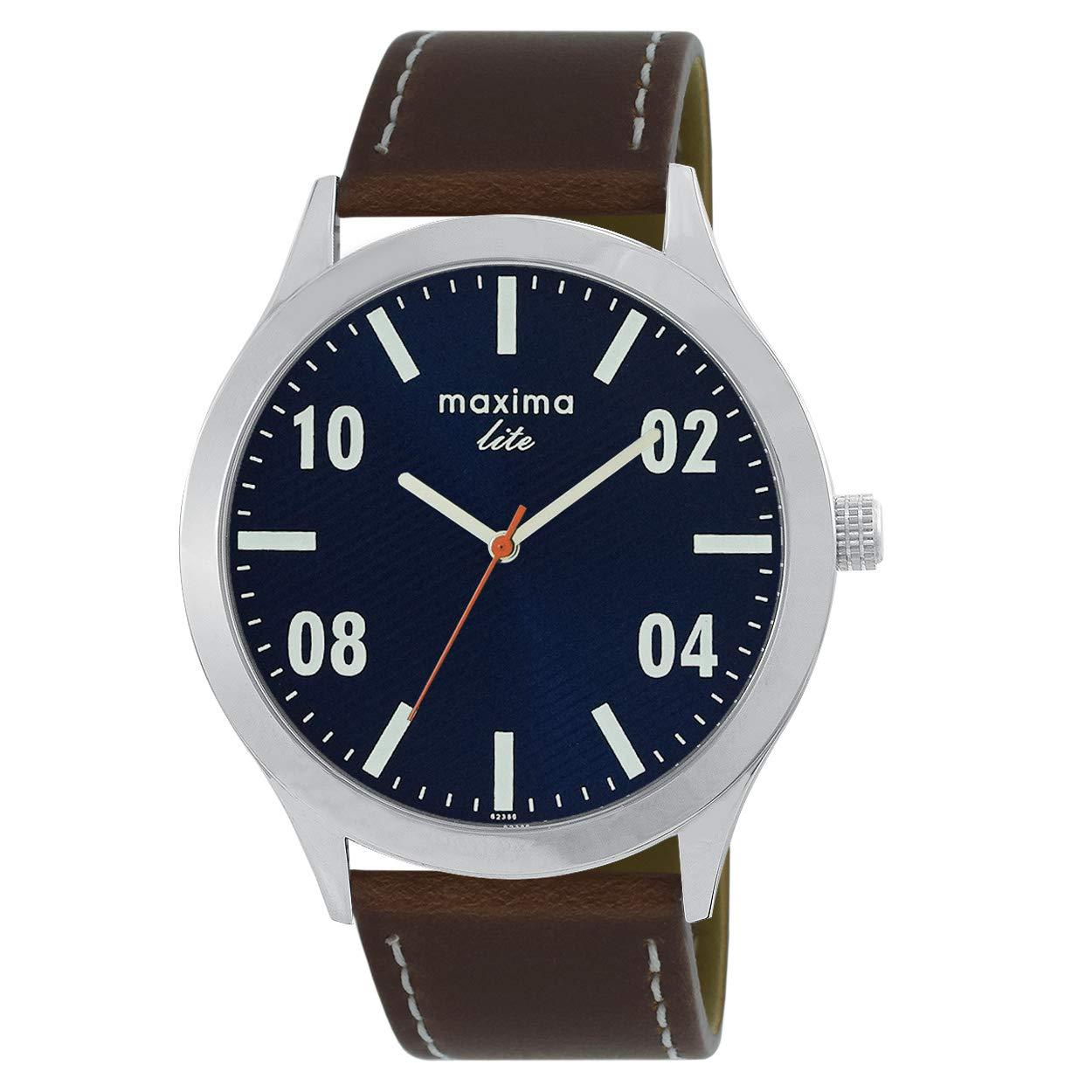 Maxima Analog Blue Dial Men's Watch – L62386LMGI