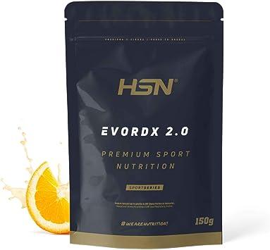 Pre Entreno Potente Evordx 2.0 de HSN | Pre Workout con Cafeína, Creatina Creapure + BCAAs + Beta-Alanina + Arginina | Óxido Nítrico | Sin ...