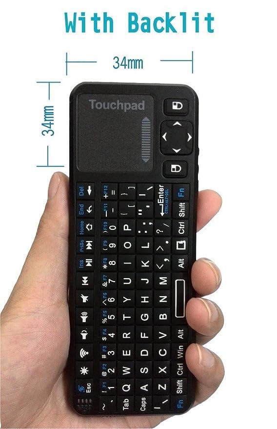 2 opinioni per Mini tastiera palmare [layout italiano non garantito] With Backlit