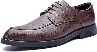 2018 Richelieus Homme, La Mode des Chaussures Oxford pour Hommes, Chaussures Classiques de Style Britannique Respirant Style Classique Respirant (Color : Noir, Taille : 43 EU)