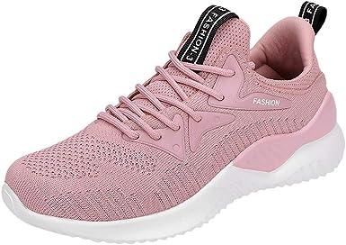 Hunzed women shoes Zapatillas Deportivas para Mujer, Ligeras, Deportivas, para Entrenamiento, Crossfit, para Correr, Gimnasio, Fitness, 5.5 M US, Rosado: Amazon.es: Deportes y aire libre