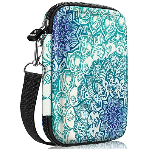 Fintie Protective Case for HP Sprocket Plus Photo Printer, Canon Ivy CLIQ, Ivy CLIQ+ Instant Camera Printer - Hard EVA Shockproof Portable Carrying Bag Storage Pouch (Emerald Illusions)