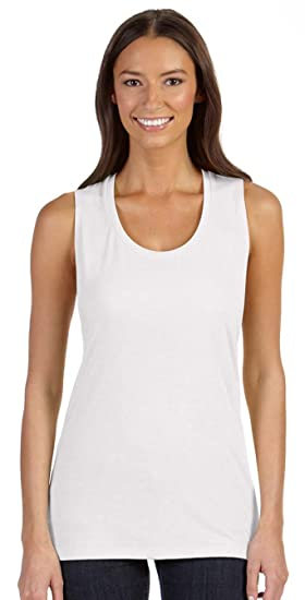 f85d983fc56ab7 Image Unavailable. Image not available for. Color  Bella + Canvas Womens  Flowy Scoop Muscle Tank ...