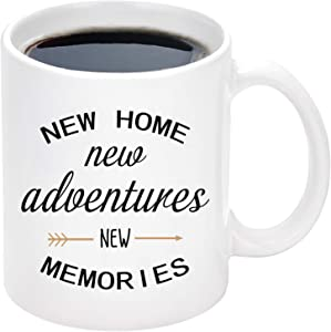 New Home Adventures Memories Mug New Home Housewarming Mugs for New Homeowner Friends Couple House Warming Presents for Women Men Housewarming Gifts 11 oz