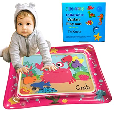 TwKueor Baby Water Mat Tummy Time PVC Inflatable Game Pad for Kids: Toys & Games