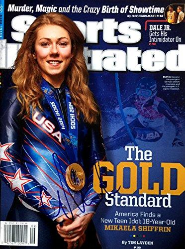 Mikaela Shiffrin OLYMPIC GOLD MEDAL SKI CHAMP autographed Sports Illustrated magazine 3/3/14