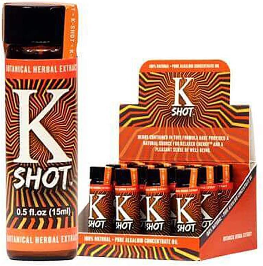 kshot 0.5oz Botanical Extract Liquid Shot pleasurable Energy k Shot 12 Pack: Health & Personal Care