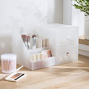 Dalanpa Multifunctional Desktop Management Organizer Makeup Storage Drawer Box