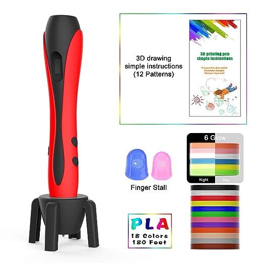 MIMI KING 3D Pluma 18 Colores Filamento Recambios, 3D Pluma ...
