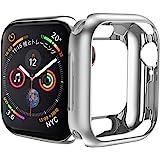 HOCO コンパチブル Apple Watch Series 4 ケース アップルウォッチ4 カバー 40mm メッキ TPU ケース 耐衝撃性 超簿 脱着簡単 アップルウォッチ 保護ケース Apple Watch 4に対応 (シルバー/40mm)