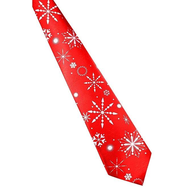 MYQyiyi Navidad Corbata de Poliéster de Impresión para Hombre 3KcvjURl