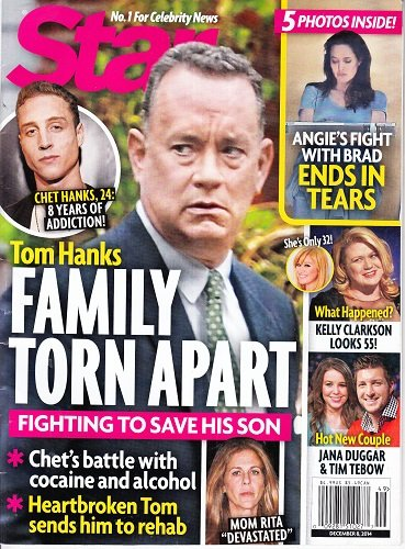 December 8, 2014 Star Tom Hanks Angelina Jolie Kelly Clarkson Jana Duggar and Tim Tebow
