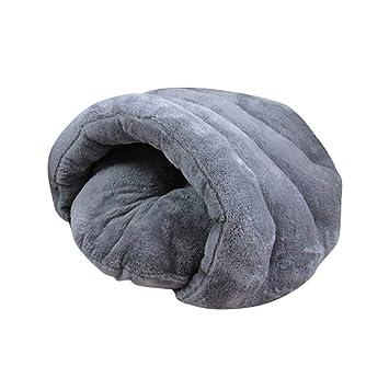 YOUJIA Perro Casa Mascotas Cama Saco de Dormir Cojin Cálido para Cachorro Perrito Gato (Gris, M): Amazon.es: Hogar