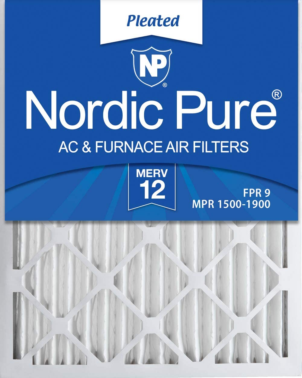 Nordic Pure 14x24x2 MERV 12 Pleated AC Furnace Air Filters, 3 Pack, 3 PACK, 3 PACK