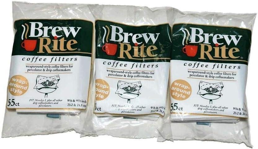 Brew Rite Rockline Wrap Around Percolator Coffee Filters (Pack von 3) 1-Pack, gemacht bei Usa
