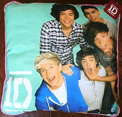 Global 1D Pillow One Direction Group Shot Green Pillow. T...