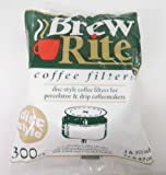 """Brew Rite Disc Style 3"""" 3 1/2"""" Coffee Filters 300 Count For Percolator & Drip Coffeemakers"""