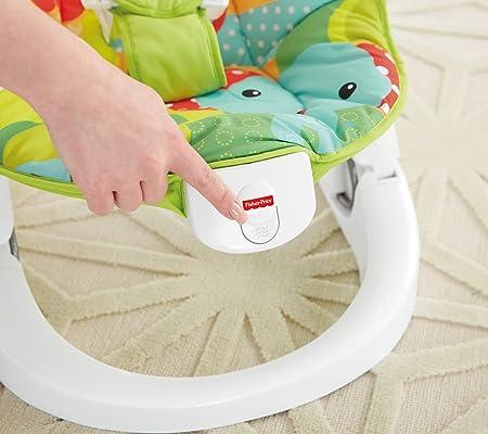 Fisher-Price Hamaca plegable animalitos de la selva, hamaca para bebé (Mattel CMR20)