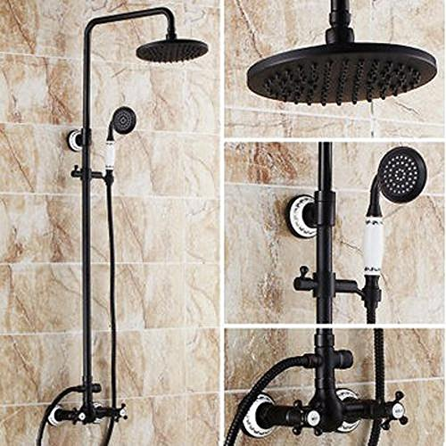 LightInTheBox Antique Tub And Shower Rain Shower / Handshower Included with Ceramic Valve Two Handles Three Holes for Oil-rubbed Bronze , Shower