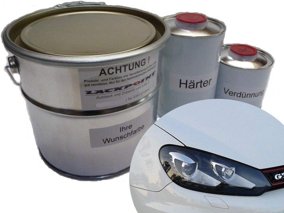 Lackpoint 5 Liter Autolack Set 2 Komponenten Für Vw Lb9a Candyweiß Einschichtlack Auto