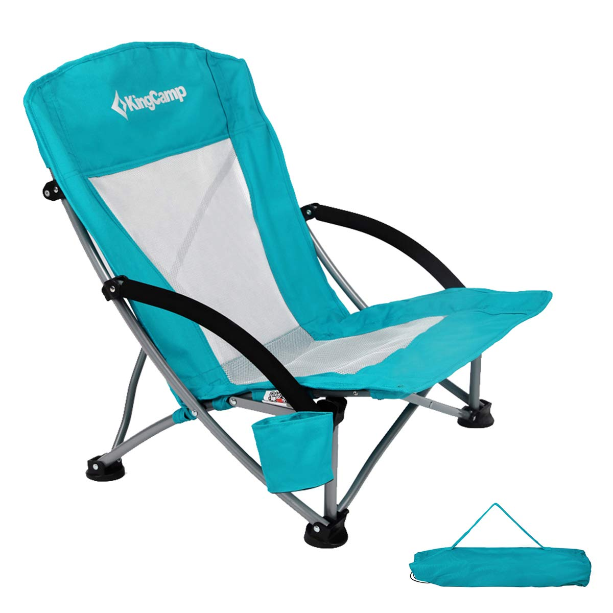 KingCamp Low Sling Beach Camping Folding Chair with Mesh Back